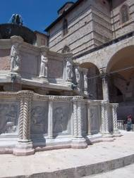 Pisano-fountain in front of the cathedral of Perugia