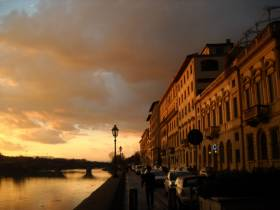 Evening at the Arno in Florence