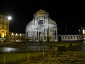 Florence - the Santa Maria Novella church by night