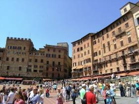"The world famous ""Campo"" of Siena where the ""Palio"" horse race takes place every year. Photo: A. Malbon - guest at La Rogaia"