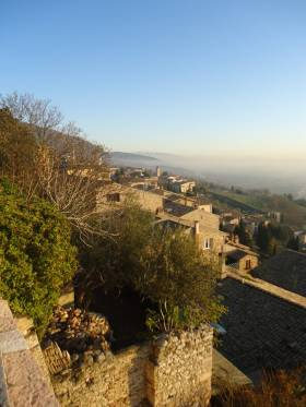 Assisi on the slopes of Mount Subasio