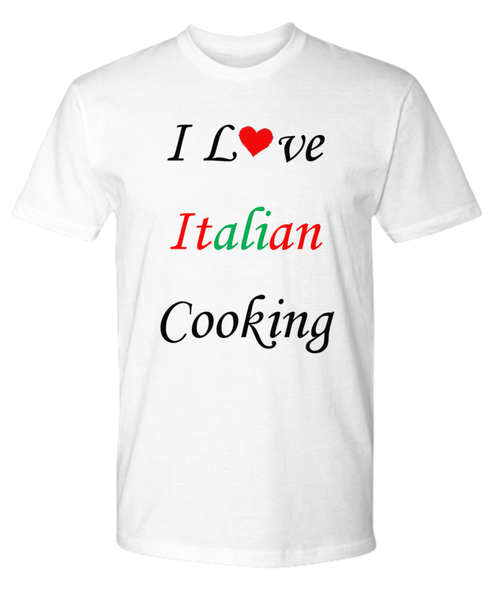 Do you love Italian cooking? Show it with this beautiful Premium T-shirt!