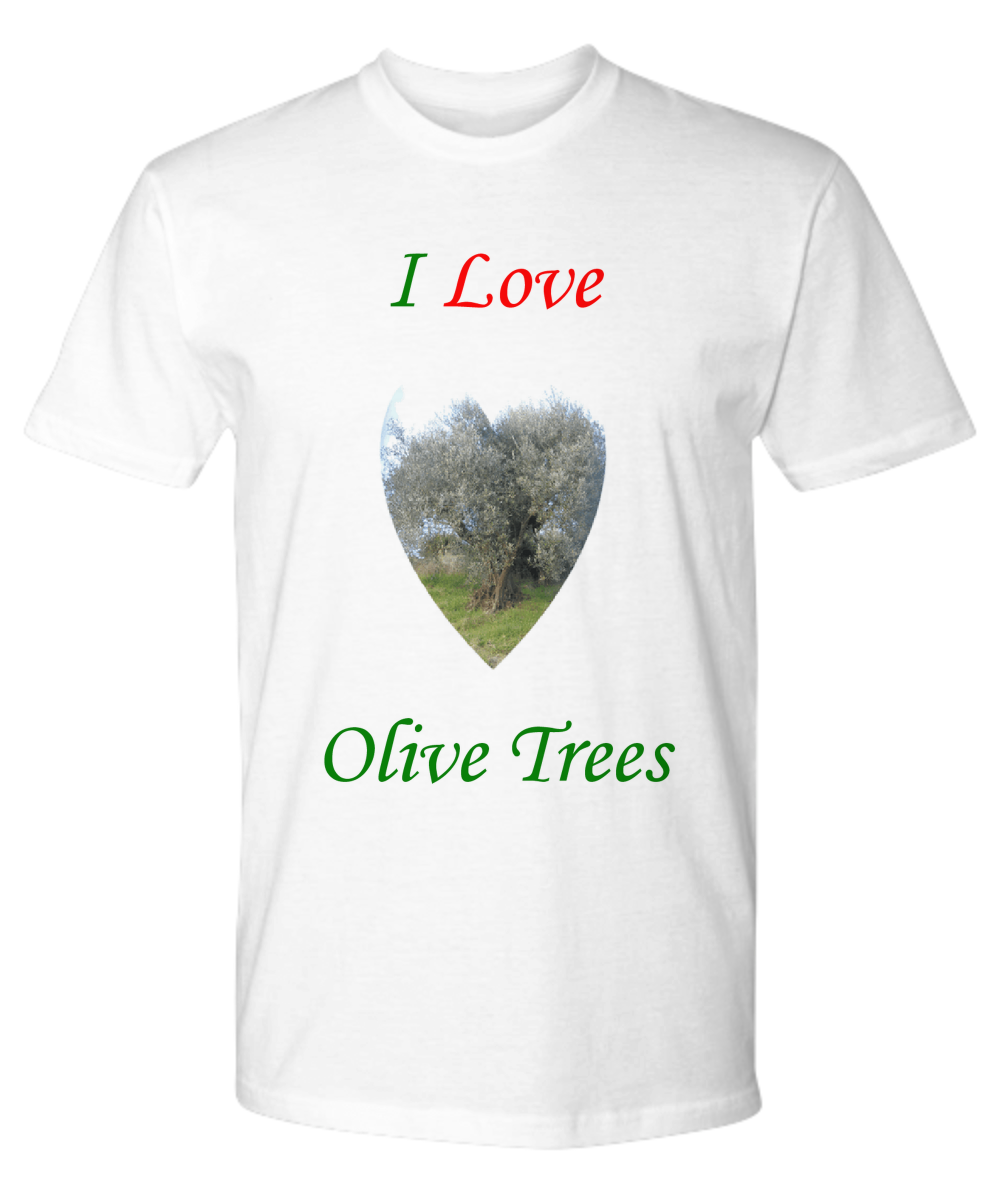 Do you love olive trees? Show it to your friends with this beautiful Premium T-shirt!